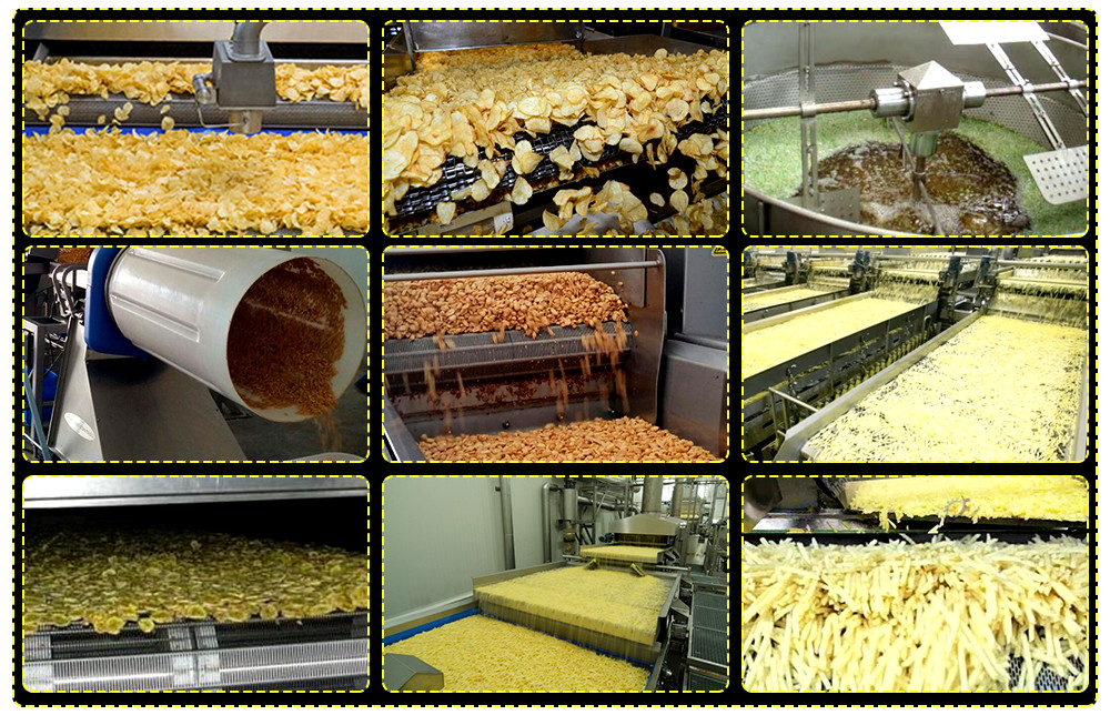 automatic continuous deep fat food fryer